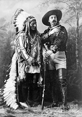 Sitting Bull Photograph - Sitting Bull And Buffalo Bill, 1885 by Science Source