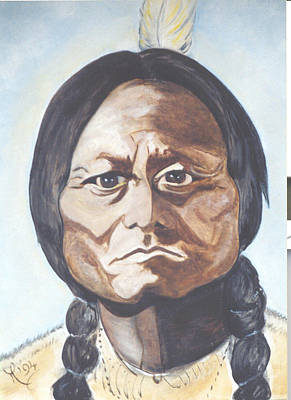 Sitting Bull Original by Michele D B