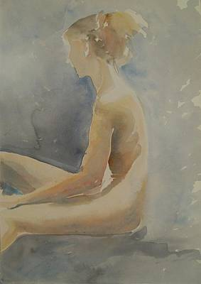 Sitting In Air Of Sun Print by Marica Ohlsson