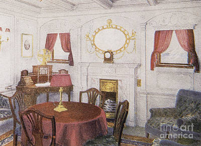 Photograph - Sitting Room In Titanic by Photo Researchers