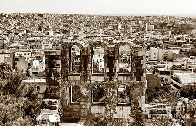 Brown Toned Art Photograph - Six Arches In Athens by John Rizzuto