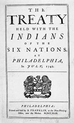 Six Nations Treaty, 1742 Print by Granger