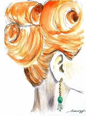Hairdo Mixed Media - Sixties Beehive -- The Original by Jayne Somogy