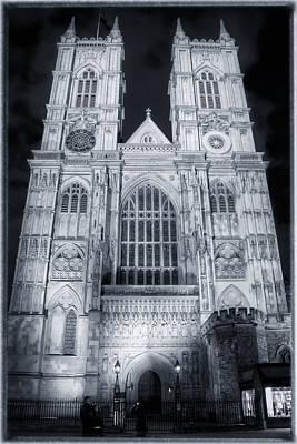 Westminster Abbey Night Original by Joan Carroll