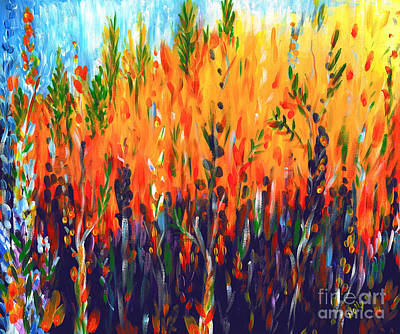 Wildfire Painting - Sizzlescape by Holly Carmichael
