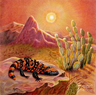 Desert Drawing - Sizzling Heat by Marilyn Smith