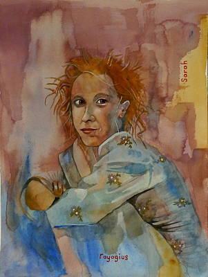 Pyjama Painting - Sketch For Sarah by Ray Agius