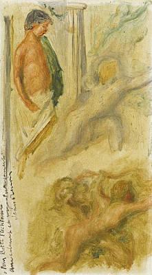 Pierre-auguste Renoir Painting - Sketch Of Greek Subjects by Pierre-Auguste Renoir