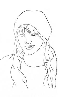 Taylor Swift Drawing - Sketch Of Taylor Swift by Mohamed Adam