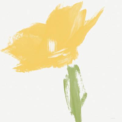 Simple Mixed Media - Sketchbook Yellow Rose- Art By Linda Woods by Linda Woods