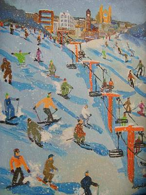Ski Hill Print by Rodger Ellingson