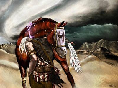 Apocalyptic Digital Art - Skin Horse by Mandem