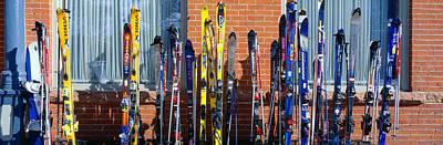 Vail Photograph - Skis At Vail, Colorado by Panoramic Images