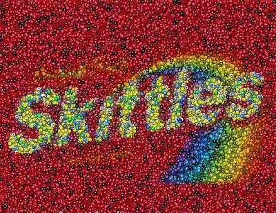 Mosaic Mixed Media - Skittles Mosaic by Paul Van Scott