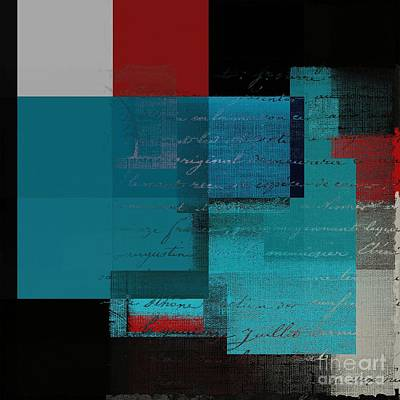 Red Abstract Digital Art - Skouarios 01btx - J234143191-v2 by Variance Collections