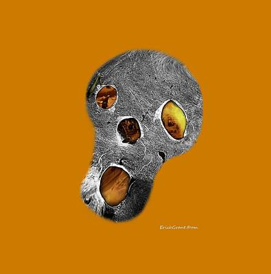 Surreal Photograph - Skull Burn by Erich Grant