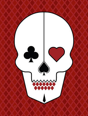 Skull Cards Print by Francisco Valle