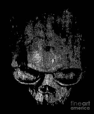 Dark Evil Scary Drawing - Skull Graphic by Edward Fielding