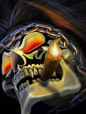 Vampire Digital Art - Skull Project by Pat Lewis