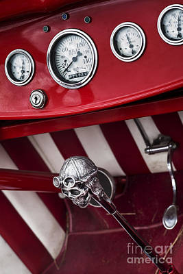 Ford Street Rod Photograph - Skull Shifter by Tim Gainey