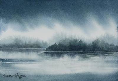 Inclement Painting - Sky And Shore by Heather Gallup