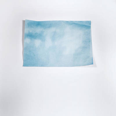 Sky Blue On White Print by Scott Norris