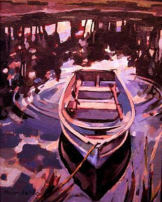 Row Boat Drawing - Sky Boat by Tim  Heimdal