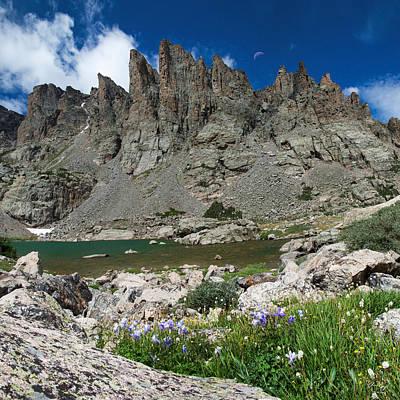Columbine Photograph - Sky Pond - Rocky Mountain National Park by Aaron Spong