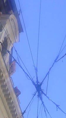 sky seen throu wires in Belgrade Original by Anamarija Marinovic