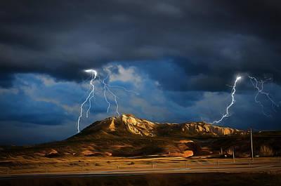 Digital Art - Sky Show - New Mexico by Dan Stone