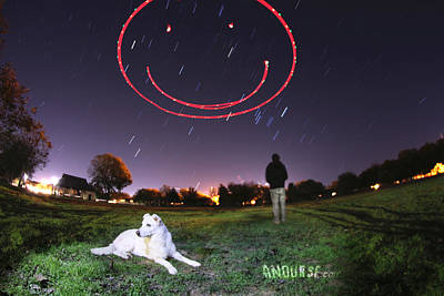Self Portrait Photograph - Sky Smile by Andrew Nourse