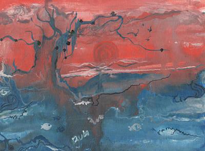 Miraculous Drawing - Sky Volcano by Rula Bashi