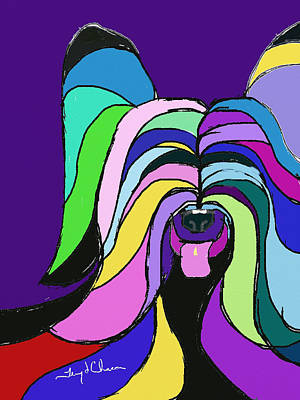 Ipad Design Painting - Skye Terrier Colors by Terry Chacon