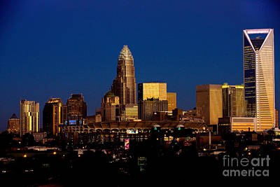Skyline At Dusk Print by Patrick Schneider