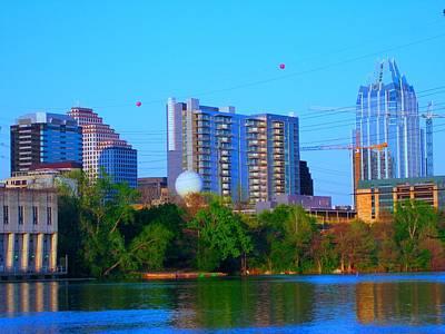 Austin Skyline Mixed Media - Skyline by Diana Moya