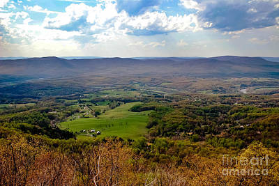 Outlook Photograph - Skyline Drive Outlook 2 by Teresa Henry