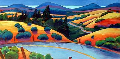 Road Painting - Skyline To The Sea by Gary Coleman