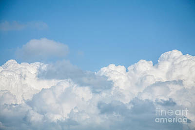 Cumulus Photograph - Skyscape by Jan Bickerton