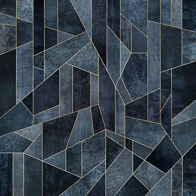 Blue Digital Art Digital Art - Skyscraper 1 by Elisabeth Fredriksson