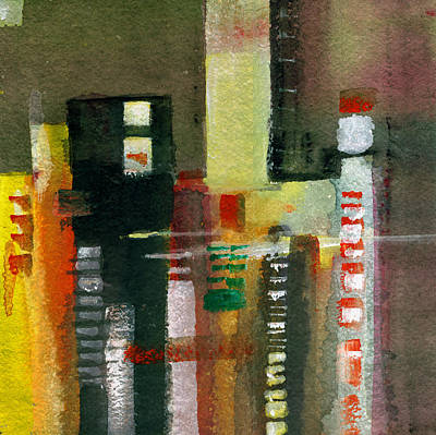 Spring Scenes Mixed Media - Skyscrapers by Anil Nene