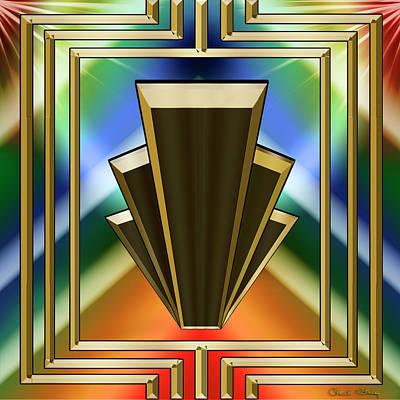 Digital Art - Skyscrapers - Chuck Staley by Chuck Staley