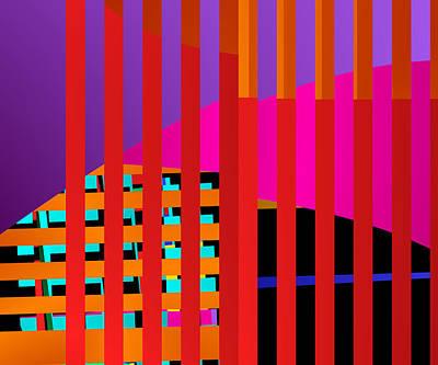 Blocks Digital Art - Skyscrapers by Ruth Moratz