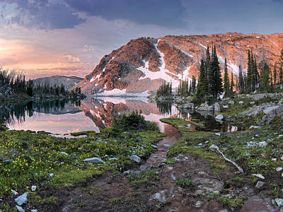 High Quality Photograph - Skytop Lake Sunrise by Leland D Howard