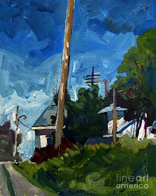 Summer Thunderstorm Painting - Skywards Awakening by Charlie Spear