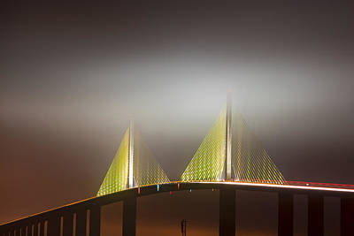Skyway In Fog Print by Jon Glaser