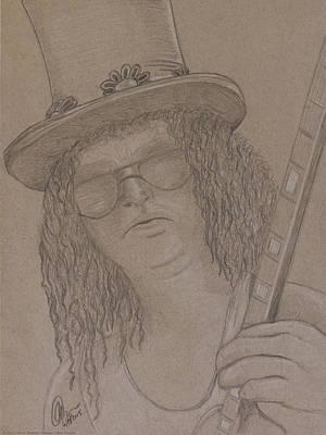 Viper Drawing - Slash 1 by Chris Thomas