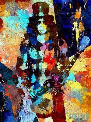 Slash Mixed Media - Slash Grunge by Daniel Janda