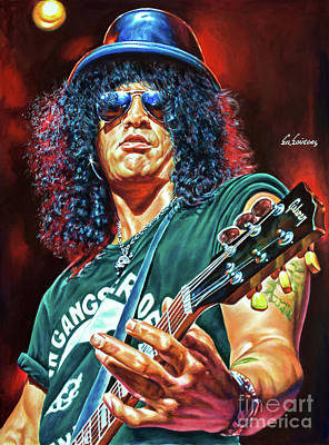 Velvet Revolver Painting - Slash - Guns 'n Roses by Spiros Soutsos