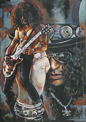 Slash Painting - Slash by Inna Volvak