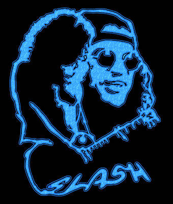 Velvet Revolver Digital Art - Slash by Michael Bergman